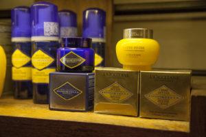 Produtos L´Occitane à venda no spa